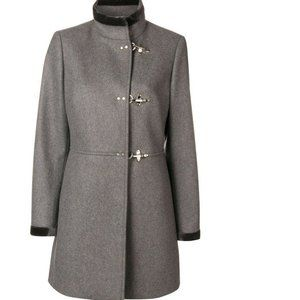 NWT Fay Virginia Wool/Cashmere Buckle Gray Coat XL
